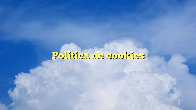Politica de cookies